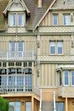 Casa en el sur Mer de Trouville en Normandie Imágenes de archivo libres de regalías