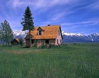 Casa en el Tetons foto de archivo