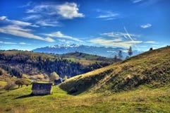 Casa en el valle Imagen de archivo libre de regalías
