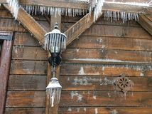 Casa en hielo Imagen de archivo libre de regalías