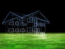 Casa en hierba ilustración del vector