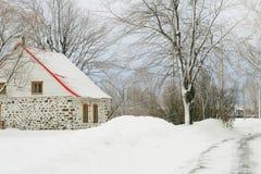 Casa en invierno Imagen de archivo