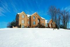 Casa en invierno Fotografía de archivo