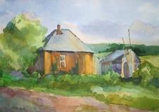 Casa en la aldea Fotografía de archivo