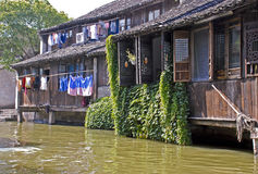 Casa en la ciudad de Wuzhen, China del agua Fotos de archivo libres de regalías