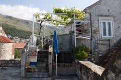 Casa en la ciudad emparedada de Dubrovnic en Croacia Europa Dubrovnik se apoda perla del ` del Adriático Fotografía de archivo libre de regalías