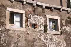 Casa en la ciudad emparedada de Dubrovnic en Croacia Europa Dubrovnik se apoda perla del ` del Adriático Foto de archivo libre de regalías