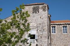 Casa en la ciudad emparedada de Dubrovnic en Croacia Europa Dubrovnik se apoda perla del ` del Adriático Fotografía de archivo