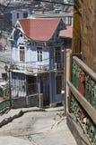 Casa en la colina Valparaiso Fotos de archivo libres de regalías