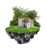 Casa en la isla stock de ilustración