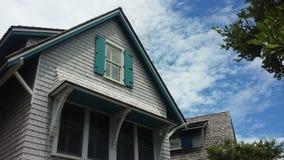 Casa en la isla de la cabeza calva, Carolina del Norte, los E.E.U.U. Imagen de archivo