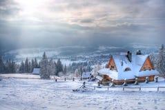 Casa en la montaña Fotografía de archivo libre de regalías