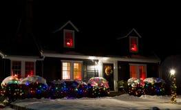 Casa en la Navidad foto de archivo