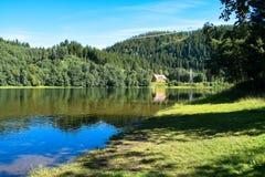 Casa en la orilla en Strondheim Fotografía de archivo libre de regalías