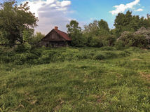 Casa en la provincia rusa Fotos de archivo