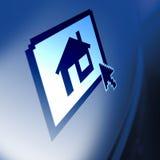 Casa en monitor stock de ilustración