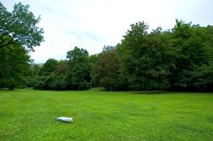 Casa en parque Imagen de archivo libre de regalías