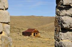 Casa en pueblo fantasma del desierto Fotografía de archivo libre de regalías