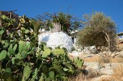 Casa en Rethymnon Crete, Grecia fotos de archivo