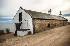 Casa en St Cyrus Beach, Escocia fotos de archivo
