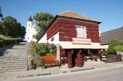 Casa en Tihany, Hungría de la paprika Imágenes de archivo libres de regalías