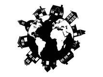 Casa en todo el mundo Foto de archivo