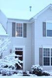 Casa de la tormenta de la nieve Fotografía de archivo libre de regalías