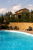 Casa en Toscana Fotografía de archivo