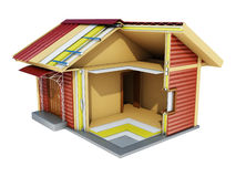 Casa en un corte Imagen de archivo libre de regalías