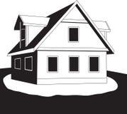 Casa en una colina. Vector. Fotos de archivo libres de regalías