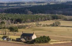 Casa en una granja foto de archivo