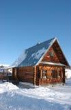 Casa en vertical del invierno Foto de archivo