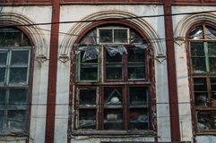 Casa enchida com os artigos atrás de Windows no Pequim, China Imagem de Stock Royalty Free