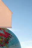 Casa encima del mundo Imagen de archivo libre de regalías