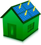 Casa a energia solare Immagini Stock Libere da Diritti