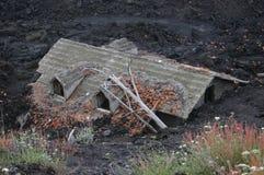 Casa enterrada pela lava Foto de Stock Royalty Free