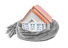 Casa envuelta en una bufanda Foto de archivo