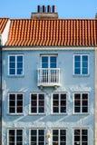 Casa escandinava en Copenhague, área de Nyhavn foto de archivo
