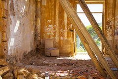 Casa escudada Fotos de archivo