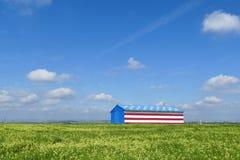Casa especial del estilo de la bandera americana Imágenes de archivo libres de regalías