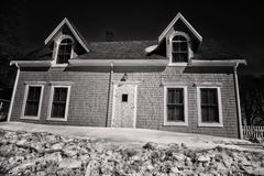 Casa espeluznante Fotografía de archivo libre de regalías