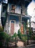 Casa espeluznante Imagen de archivo libre de regalías