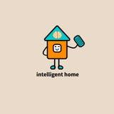 Casa esperta do ícone Imagem de Stock