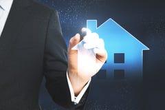 Casa esperta e conceito futuro imagem de stock