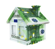 Casa euro aislada Imágenes de archivo libres de regalías