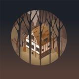 Casa europeia antiga colorida Imagem de Stock Royalty Free