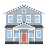 Casa, fachada casera Ejemplo del vector en dise?o plano libre illustration