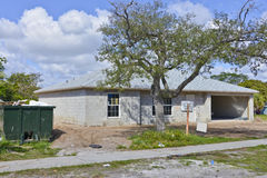 Casa familiar sob a construção Foto de Stock Royalty Free