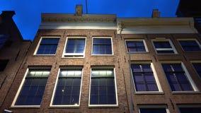 Casa famosa de Anne Frank en la ciudad de Amsterdam de Amsterdam metrajes