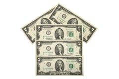 Casa feita do dinheiro do dinheiro Fotos de Stock Royalty Free